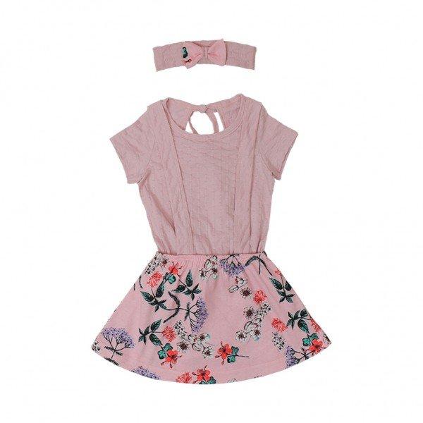 conjunto rosa com tiara