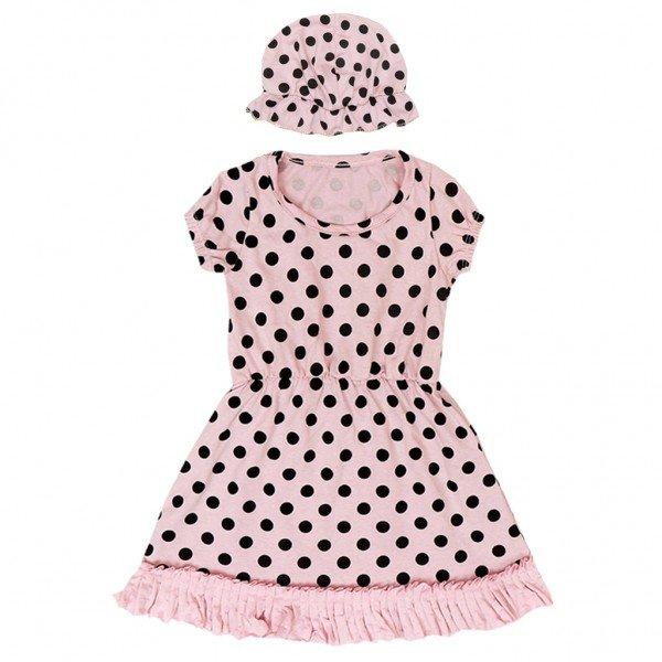 conjunto vestido toca rosa