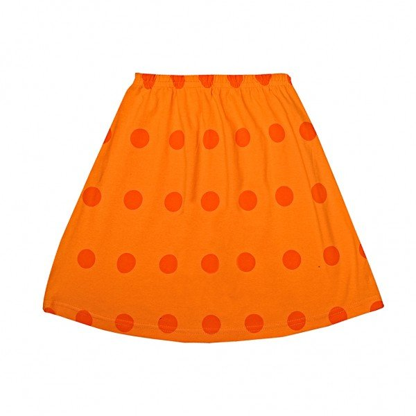 saia laranja bolinhas