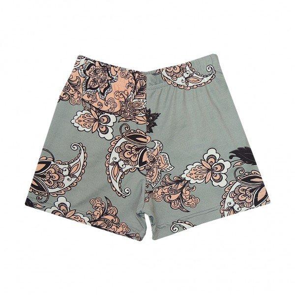 shorts cinza floral