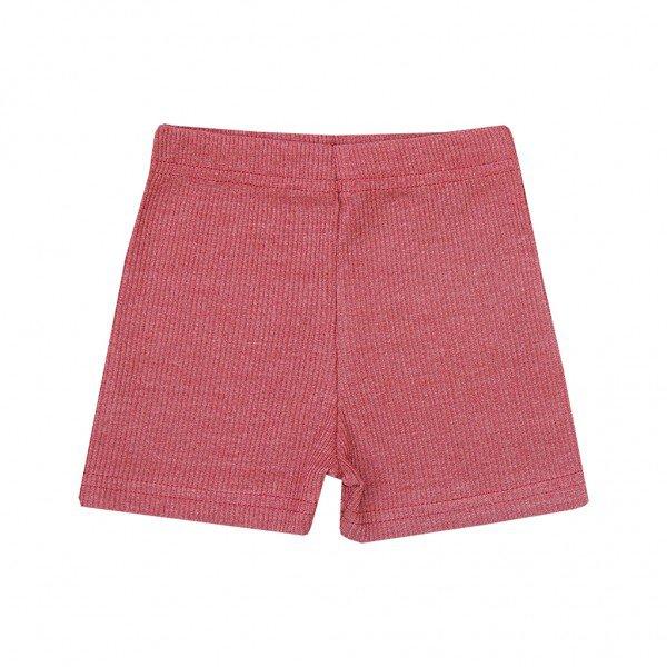 shorts canelado mescla