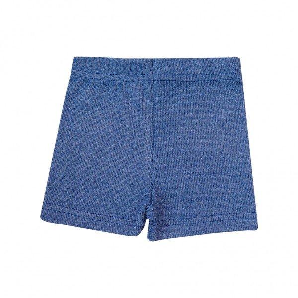 shorts canelado azul