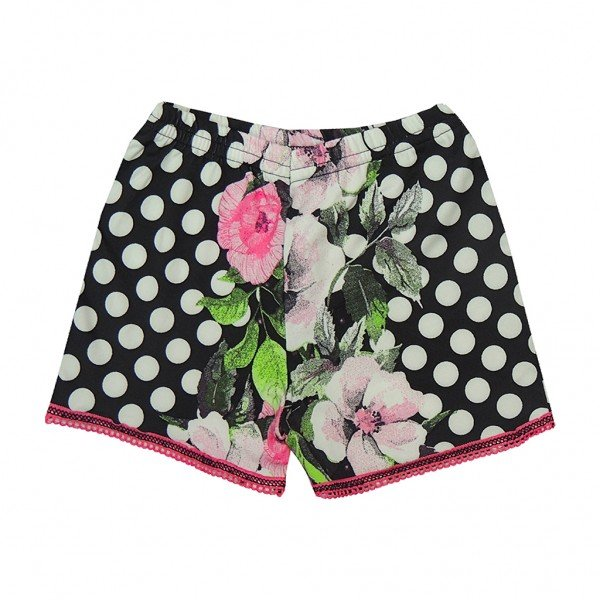 shorts bolas floral renda