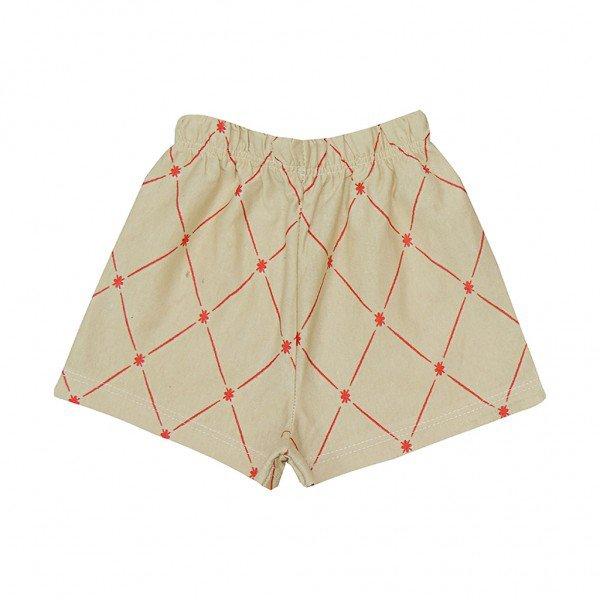 shorts bege toalha de mesa liso