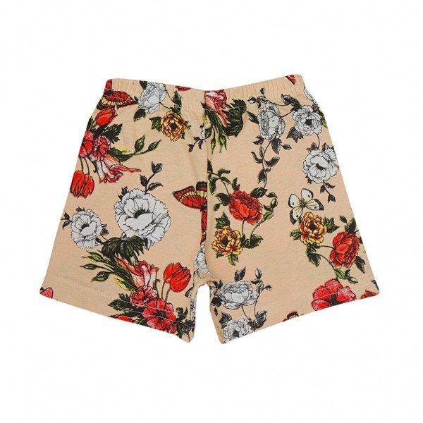 shorts bege floral