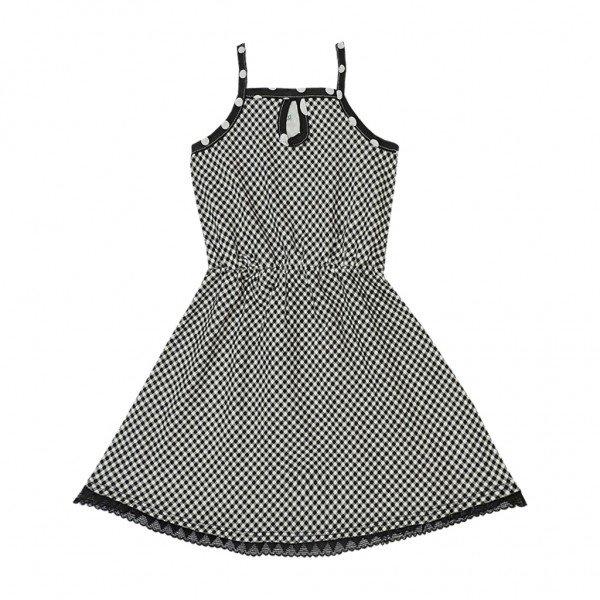 vestido xadrez preto