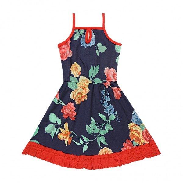 vestido marinho floral