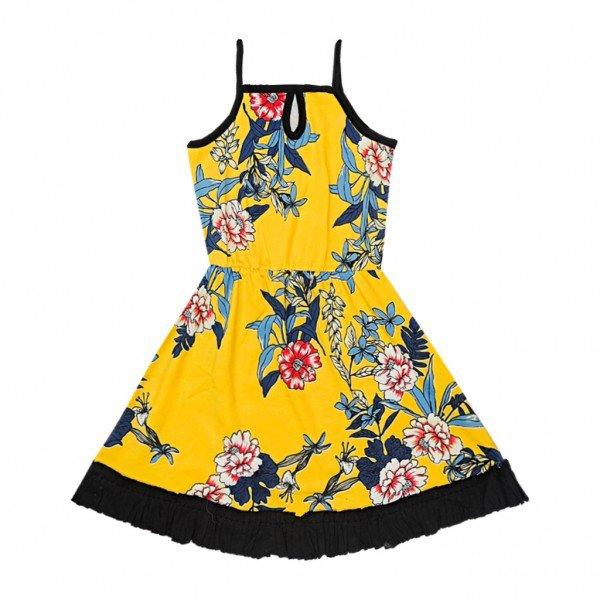 vestido amarelo floral