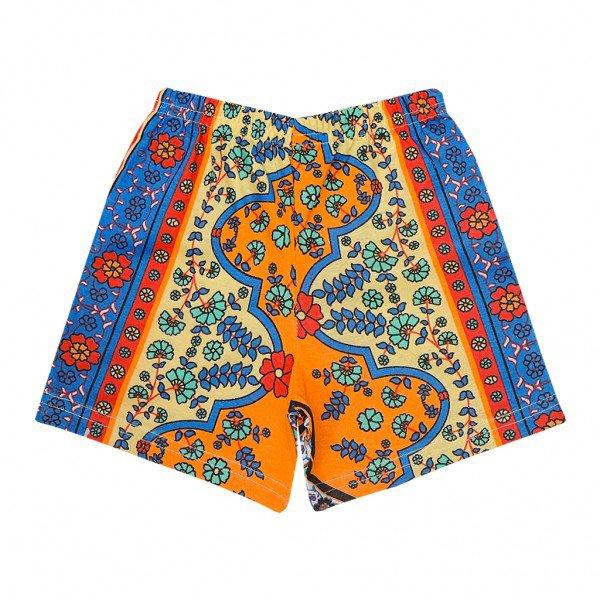 shorts etnico laranja