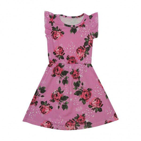 vestido violeta floral