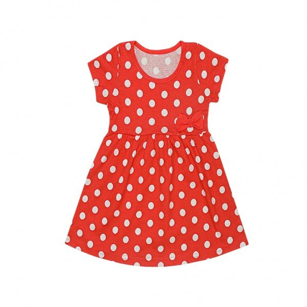 vestido vermelho poa