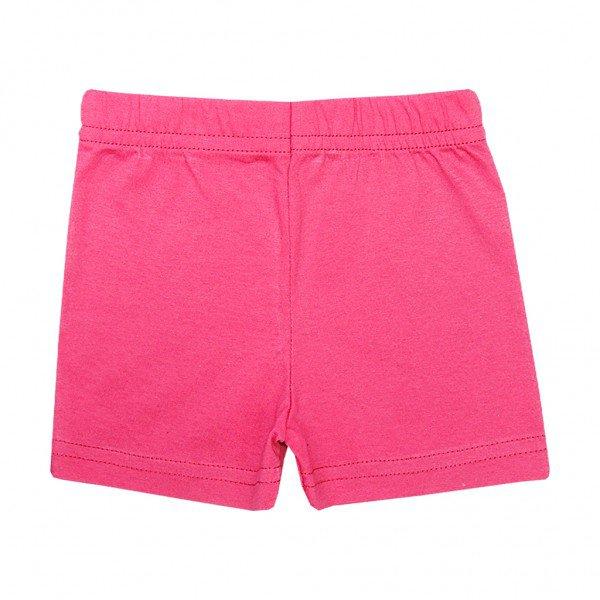 shorts pink meia malha
