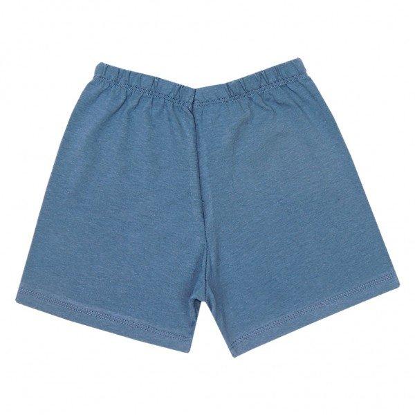 shorts marinho meia malha
